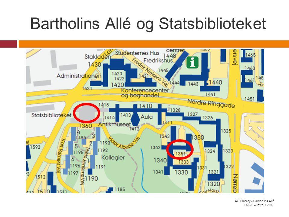 Bartholins Allé og Statsbiblioteket