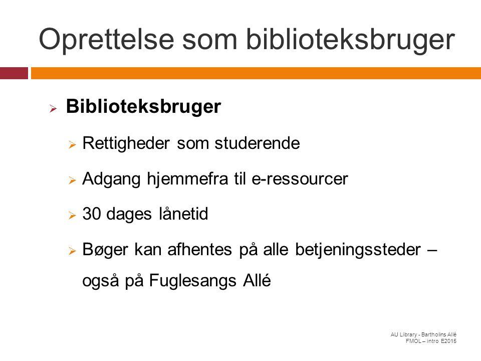 Oprettelse som biblioteksbruger