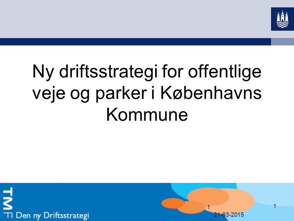 Ny driftsstrategi for offentlige veje og parker i Københavns Kommune