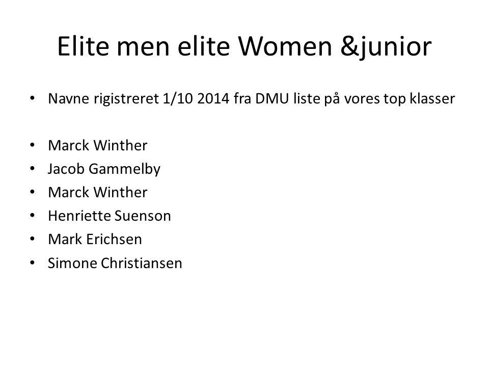 Elite men elite Women &junior