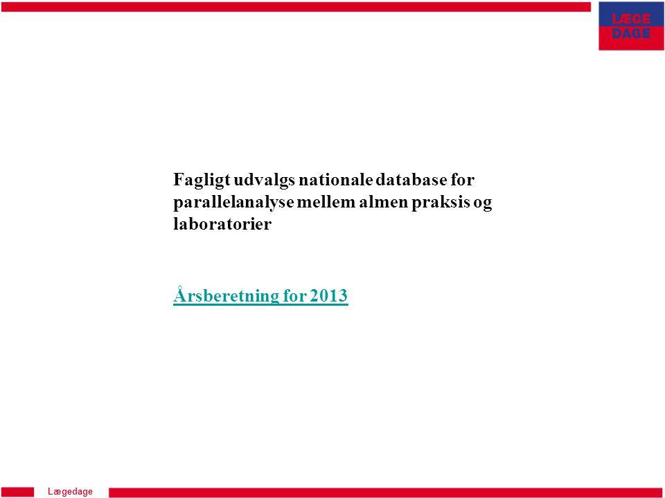 Fagligt udvalgs nationale database for parallelanalyse mellem almen praksis og laboratorier