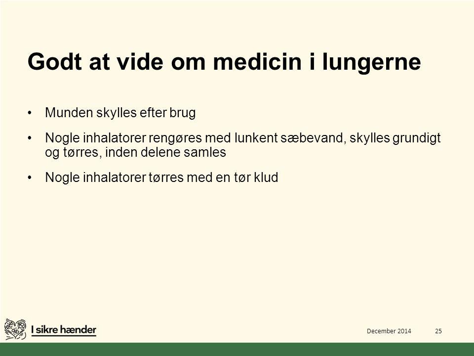 Godt at vide om medicin i lungerne