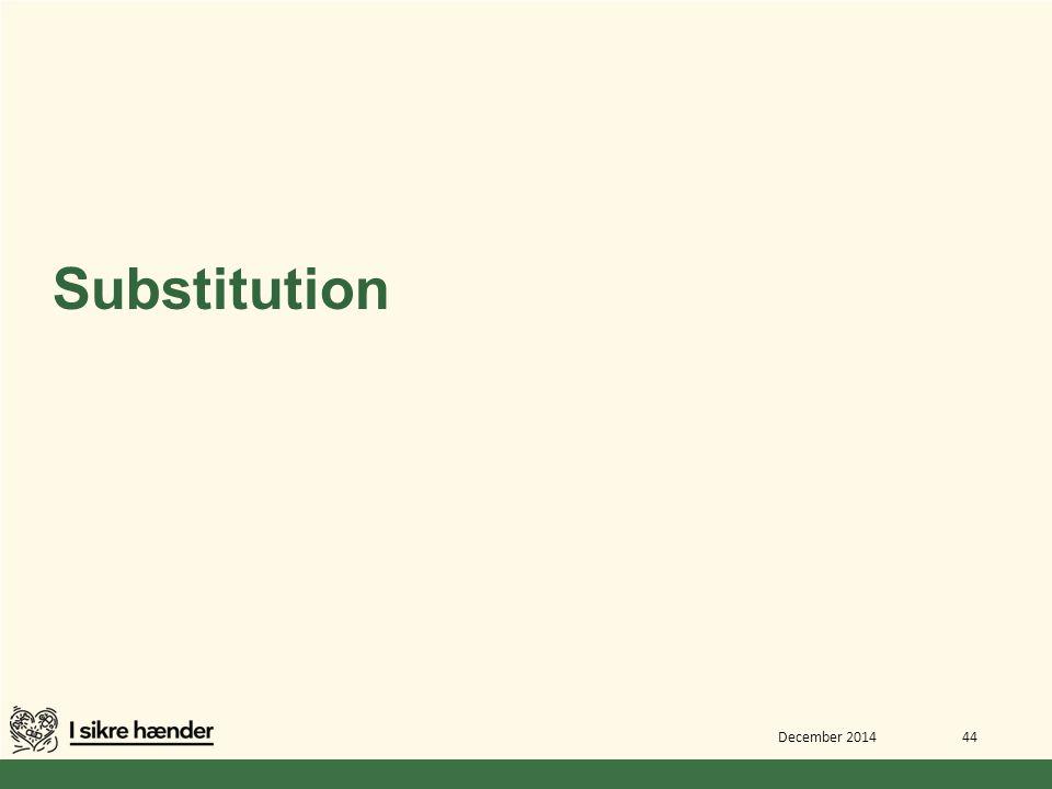 Substitution December 2014 44