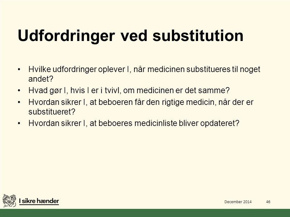 Udfordringer ved substitution