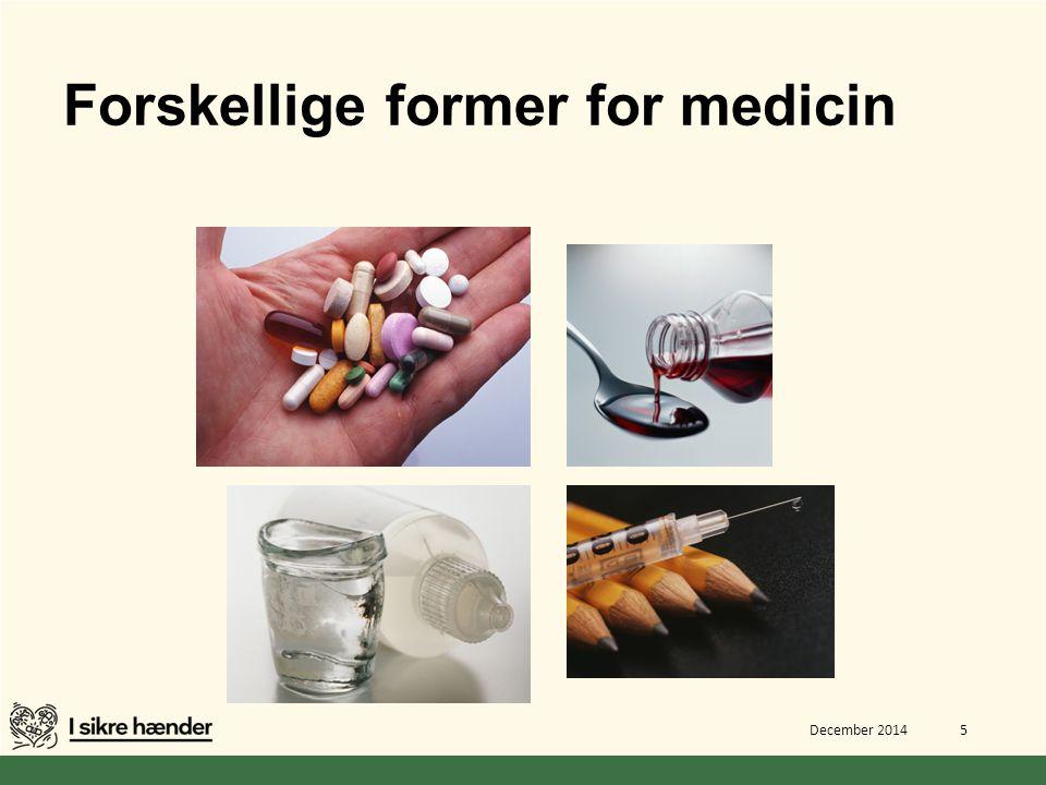 Forskellige former for medicin