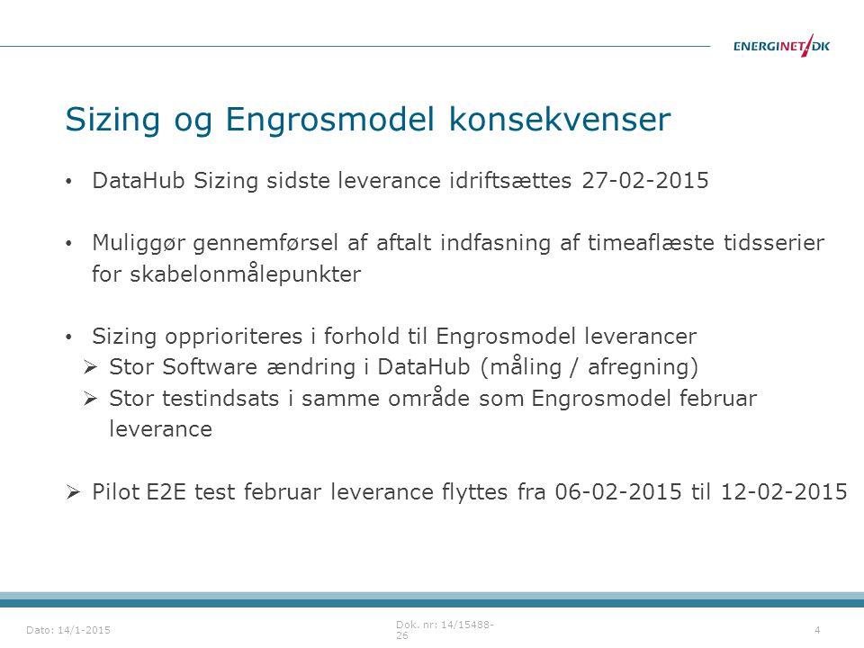 Sizing og Engrosmodel konsekvenser