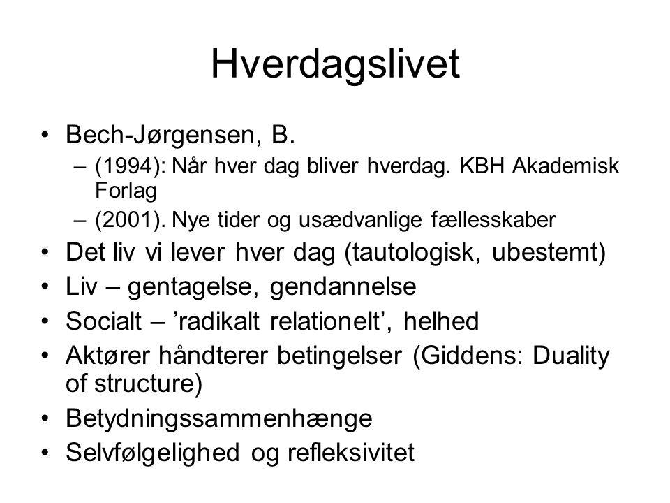 Hverdagslivet Bech-Jørgensen, B.