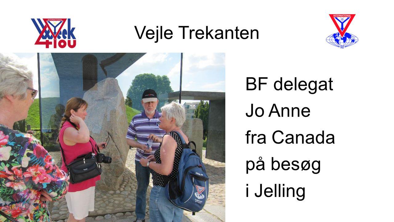 Vejle Trekanten BF delegat Jo Anne fra Canada på besøg i Jelling