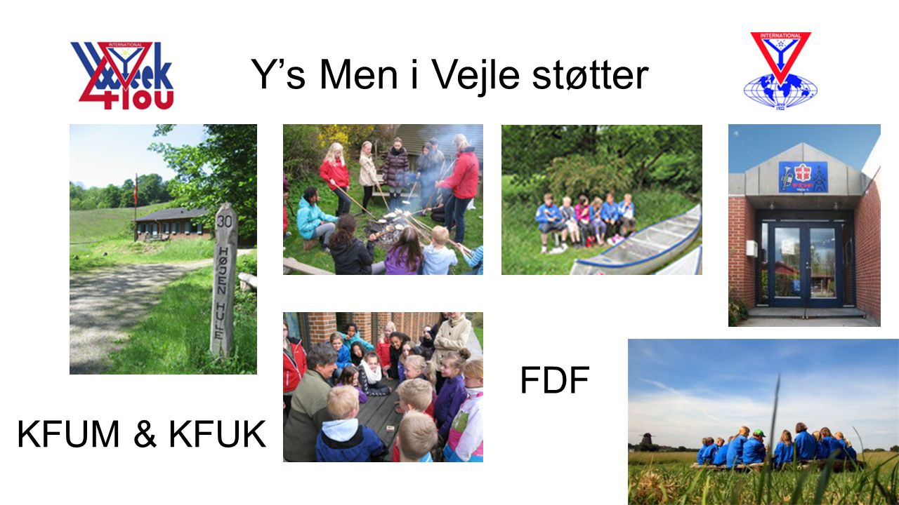 Y's Men i Vejle støtter FDF KFUM & KFUK