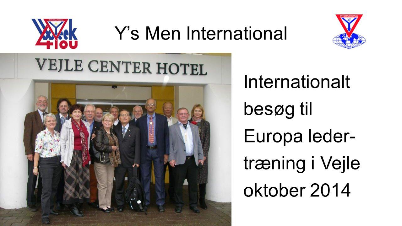 Y's Men International Internationalt besøg til Europa leder- træning i Vejle oktober 2014