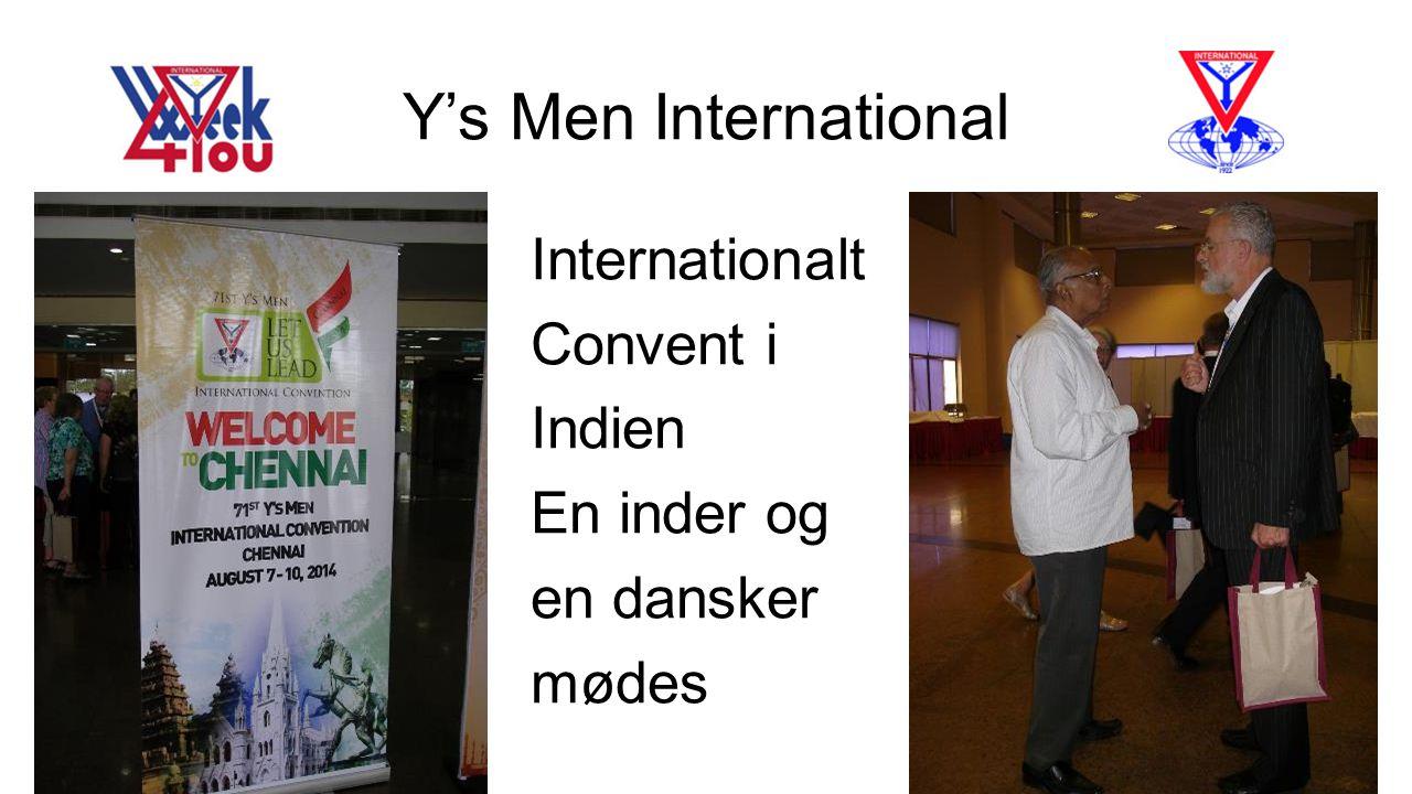 Y's Men International Internationalt Convent i Indien En inder og