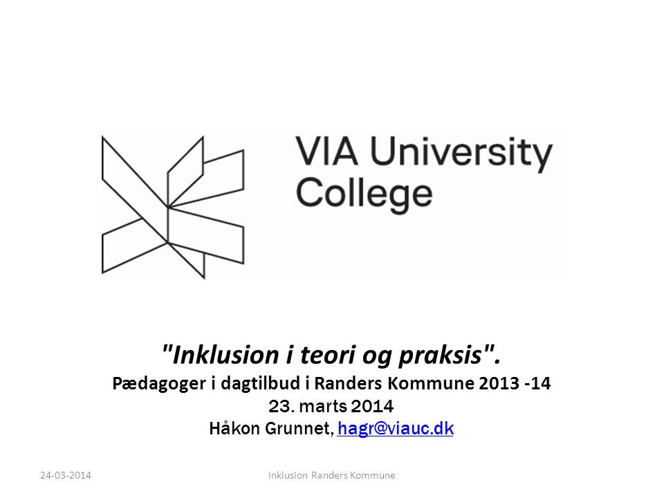 Inklusion i teori og praksis .