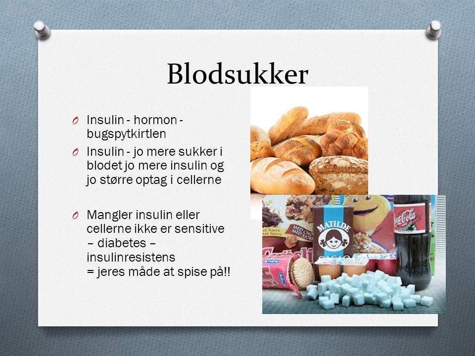 Blodsukker Insulin - hormon - bugspytkirtlen