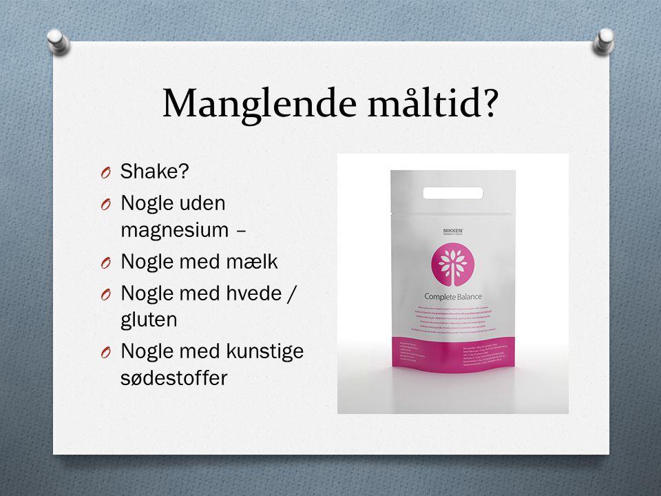 Manglende måltid Shake Nogle uden magnesium – Nogle med mælk