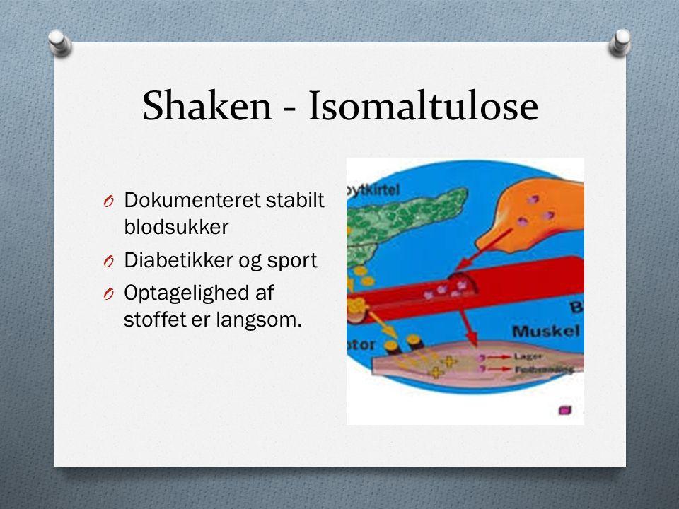 Shaken - Isomaltulose Dokumenteret stabilt blodsukker