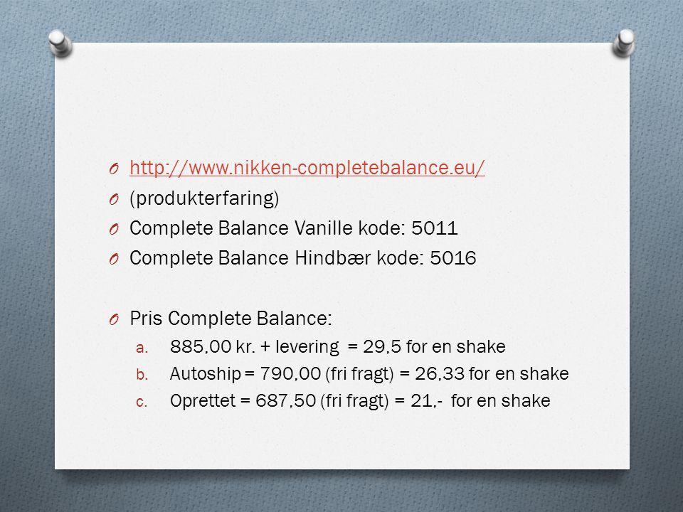 Complete Balance Vanille kode: 5011