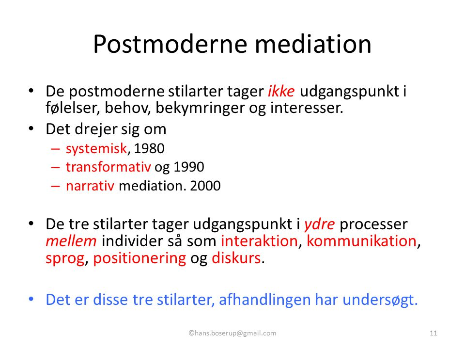 Postmoderne mediation