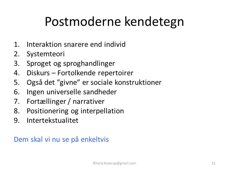Postmoderne kendetegn
