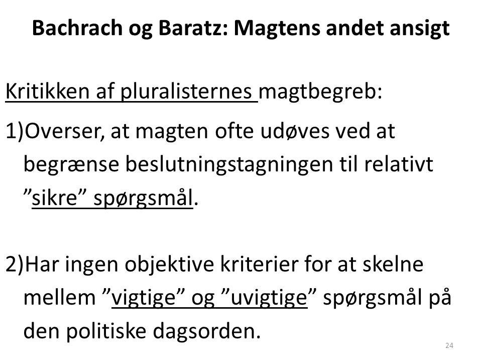 Bachrach og Baratz: Magtens andet ansigt