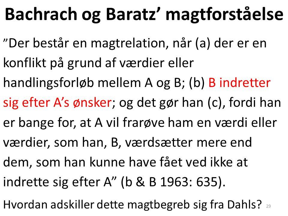 Bachrach og Baratz' magtforståelse