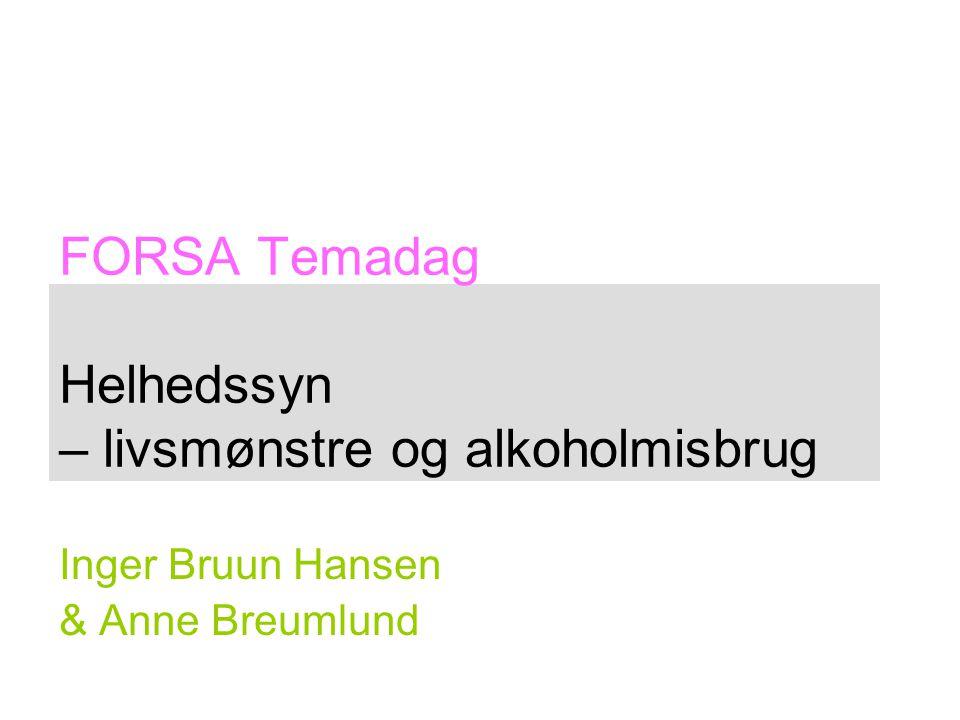 FORSA Temadag Helhedssyn – livsmønstre og alkoholmisbrug