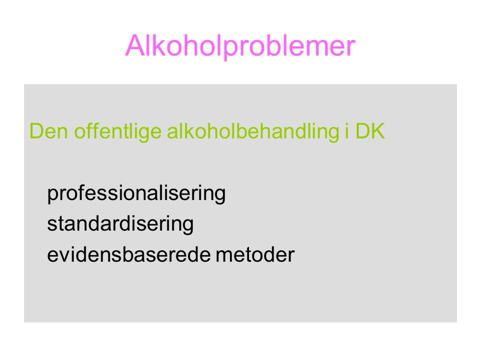 Alkoholproblemer Den offentlige alkoholbehandling i DK