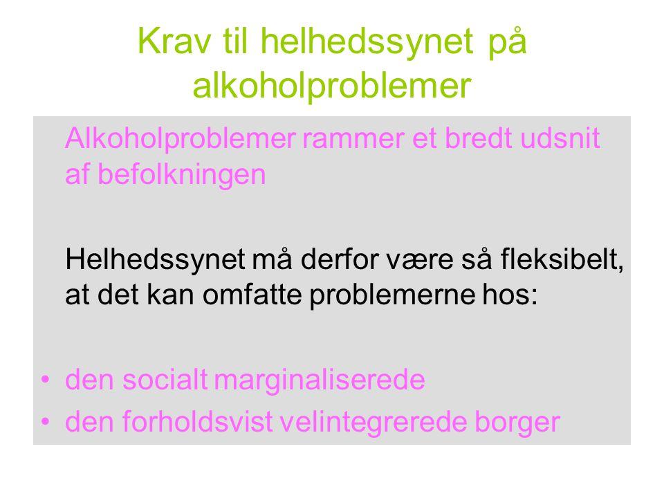 Krav til helhedssynet på alkoholproblemer