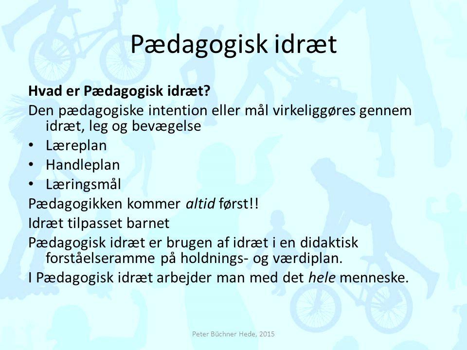 Pædagogisk idræt Hvad er Pædagogisk idræt