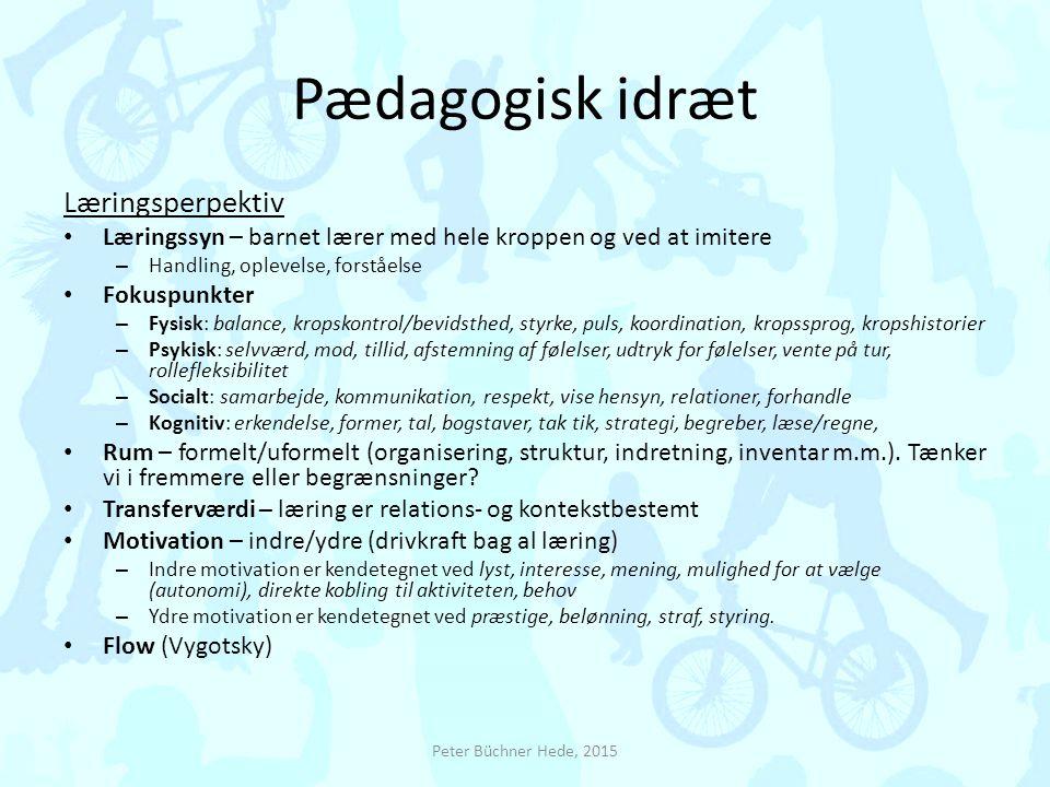 Pædagogisk idræt Læringsperpektiv