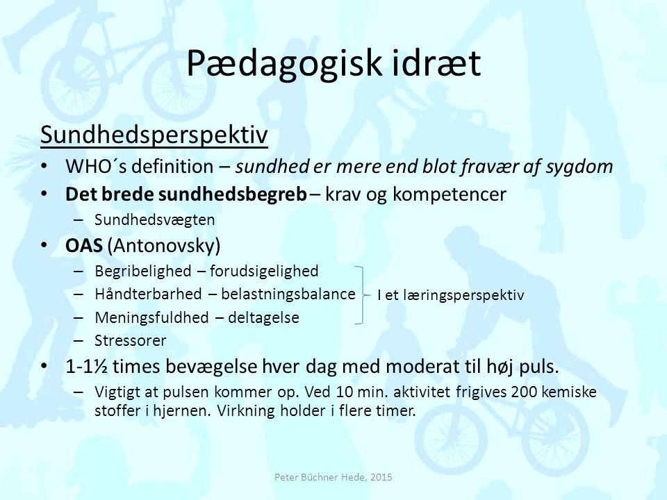 Pædagogisk idræt Sundhedsperspektiv