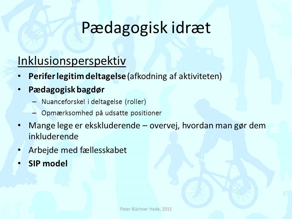 Pædagogisk idræt Inklusionsperspektiv