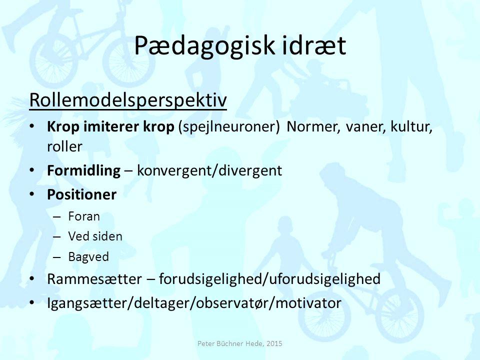 Pædagogisk idræt Rollemodelsperspektiv