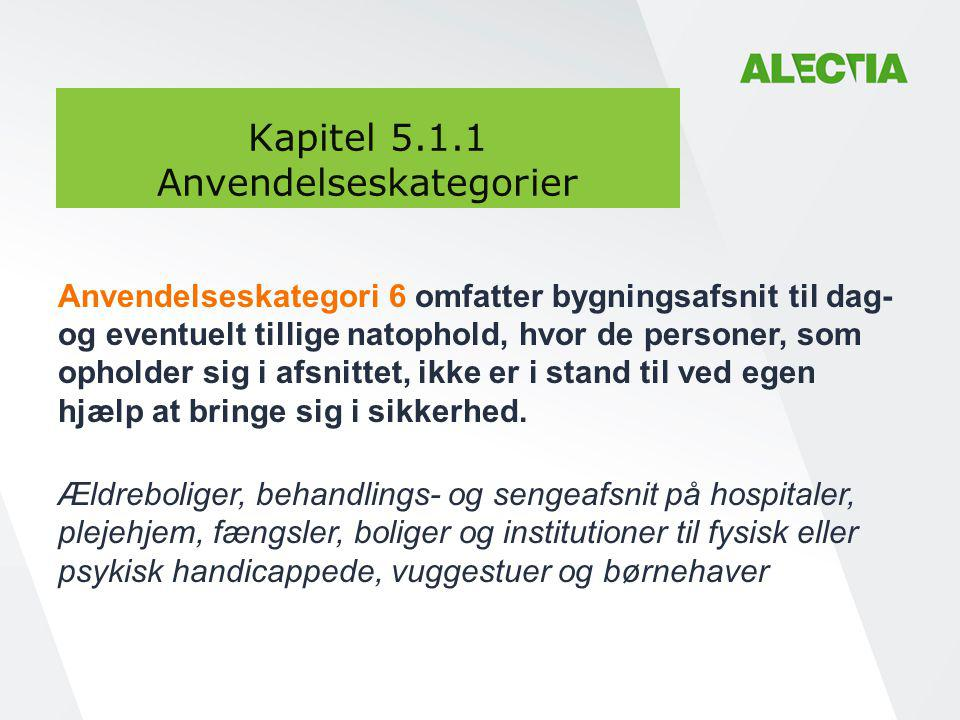 Kapitel 5.1.1 Anvendelseskategorier