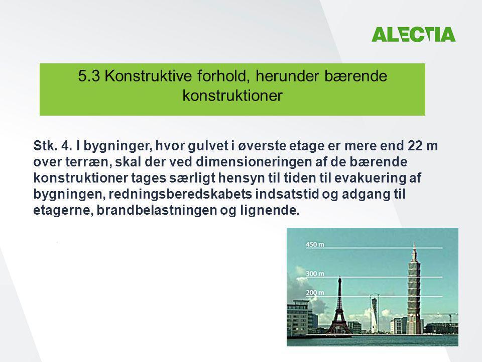 5.3 Konstruktive forhold, herunder bærende konstruktioner