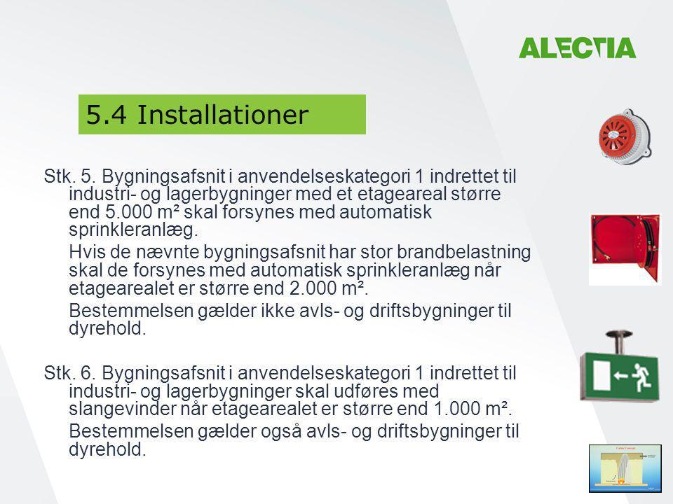 5.4 Installationer