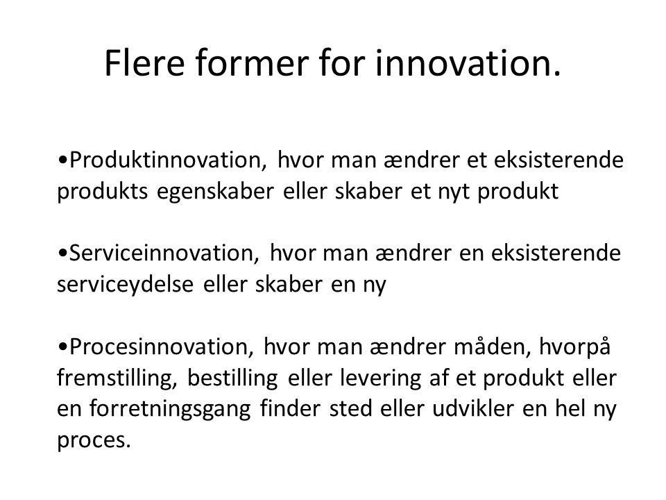 Flere former for innovation.
