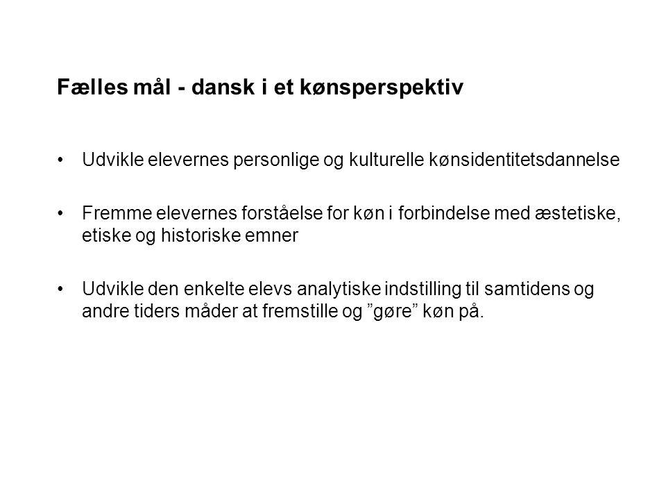 Fælles mål - dansk i et kønsperspektiv