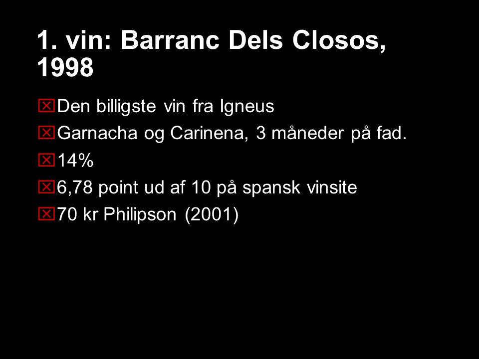 1. vin: Barranc Dels Closos, 1998