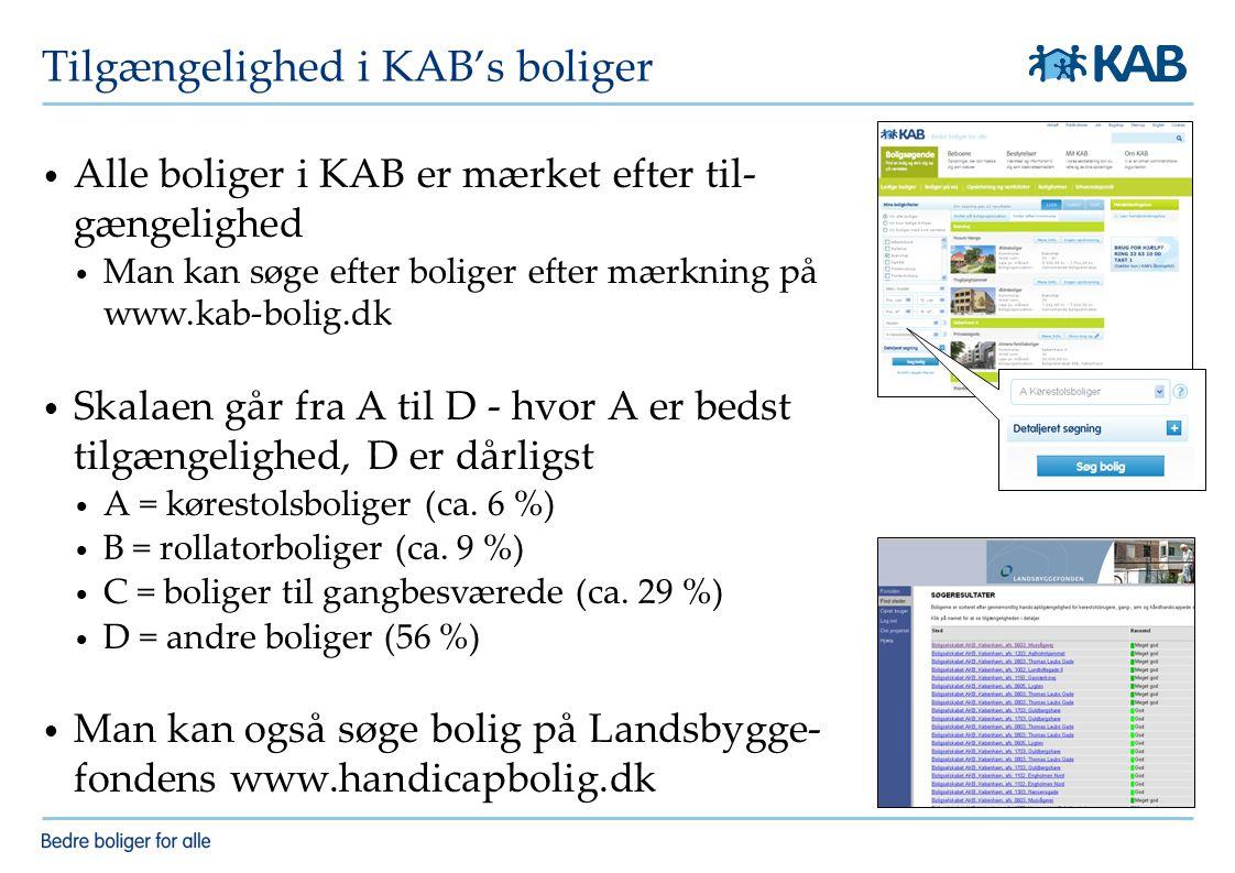 Tilgængelighed i KAB's boliger