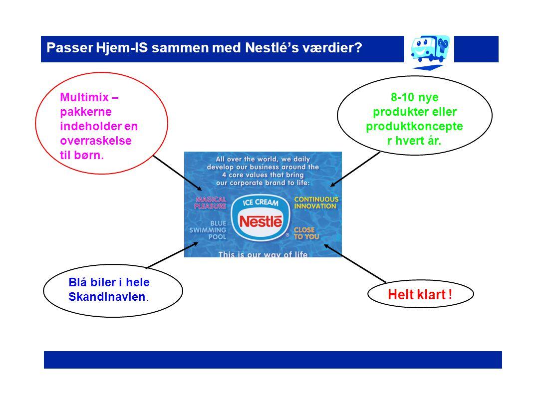 Passer Hjem-IS sammen med Nestlé's værdier