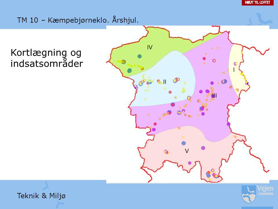 Kortlægning og indsatsområder TM 10 – Kæmpebjørneklo. Årshjul.