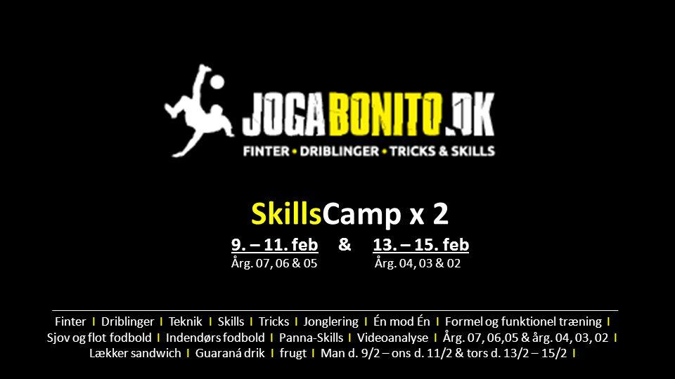 SkillsCamp x 2 9. – 11. feb & 13. – 15. feb