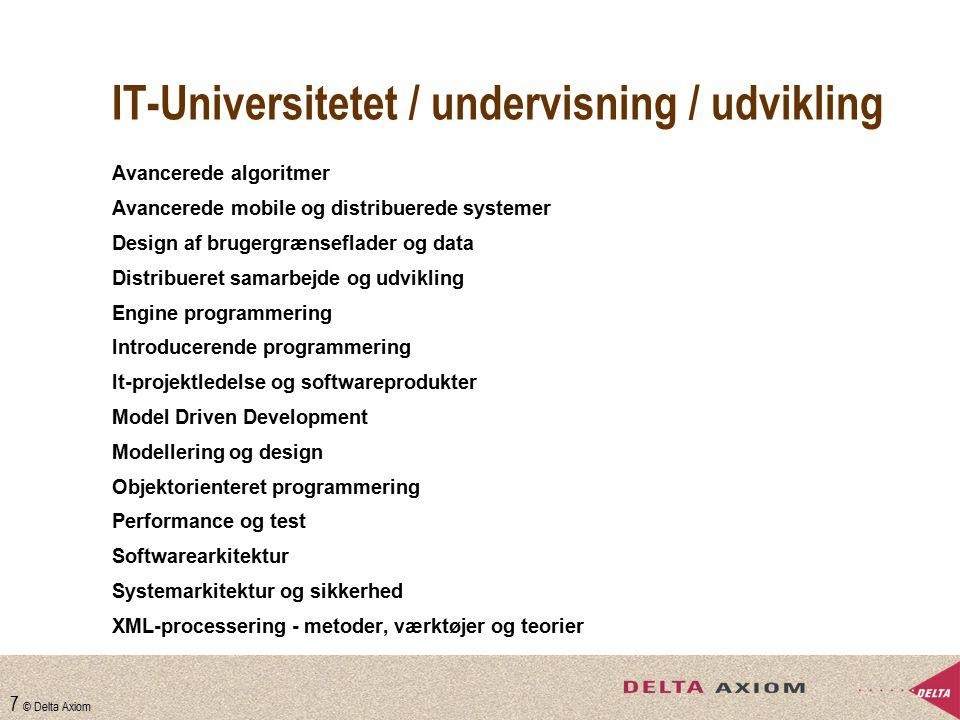 IT-Universitetet / undervisning / udvikling