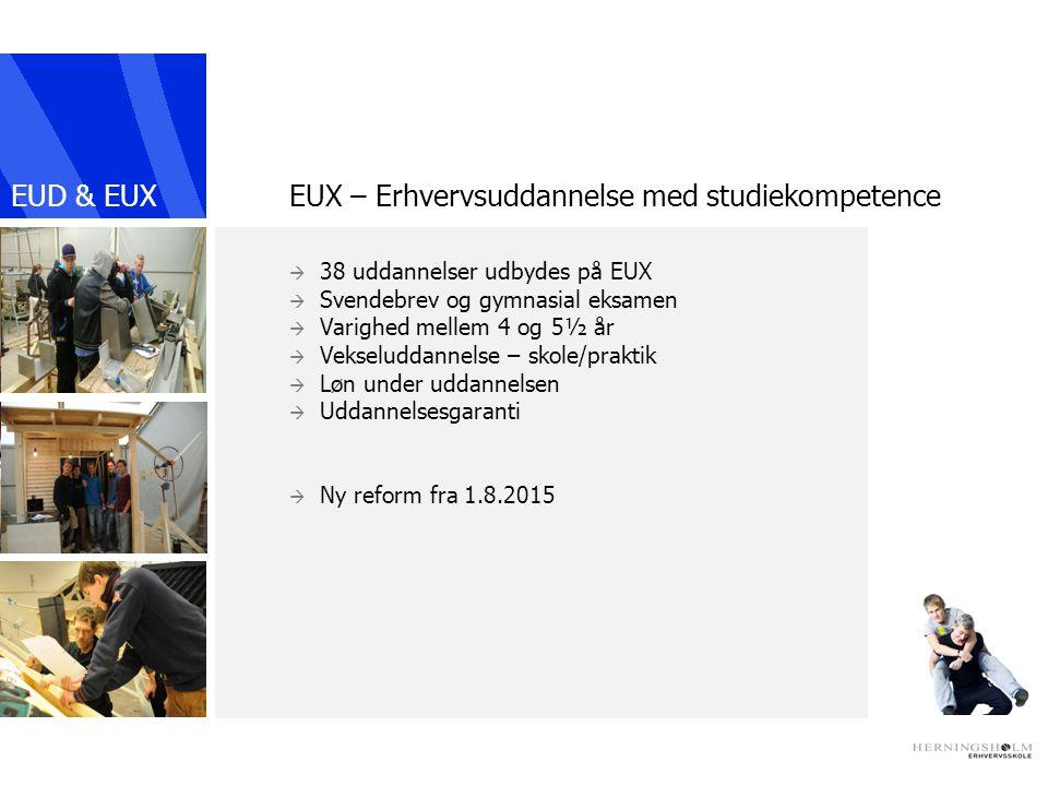 EUX – Erhvervsuddannelse med studiekompetence
