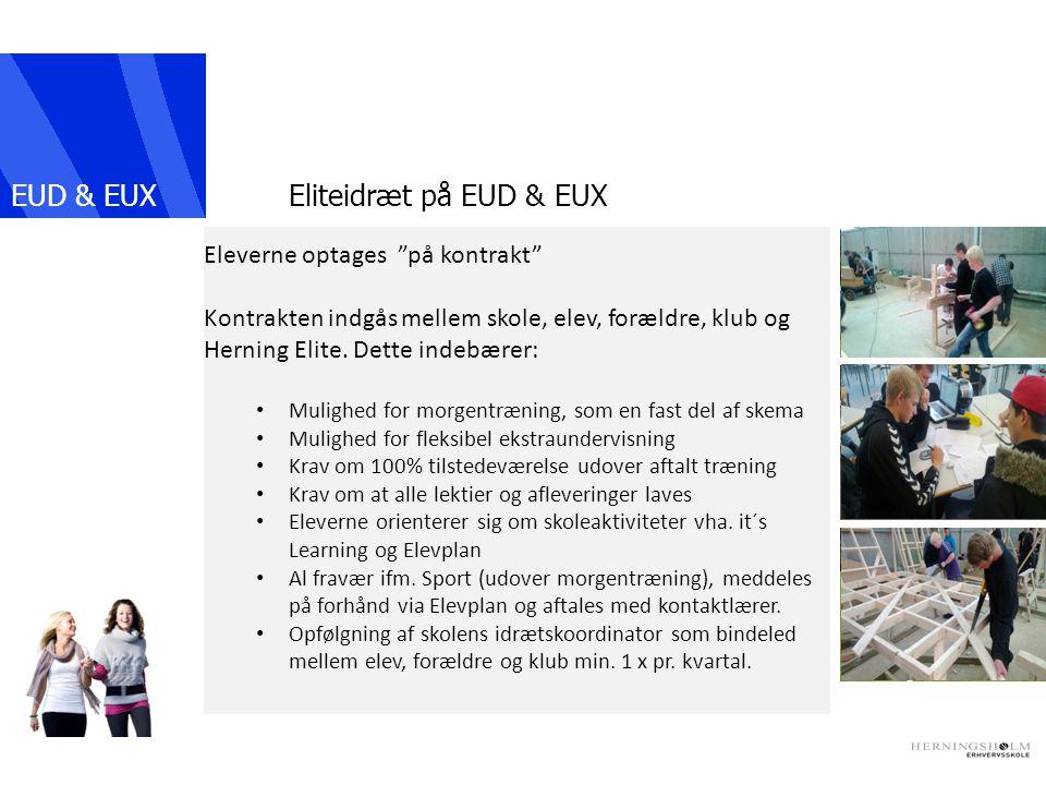EUD & EUX IKAST Eliteidræt på EUD & EUX Eleverne optages på kontrakt