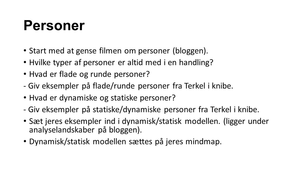 Personer Start med at gense filmen om personer (bloggen).