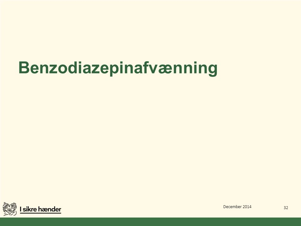 Benzodiazepinafvænning