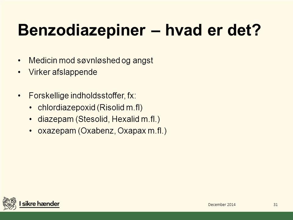 Benzodiazepiner – hvad er det