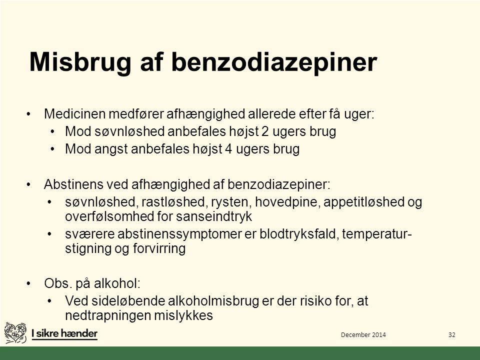Misbrug af benzodiazepiner