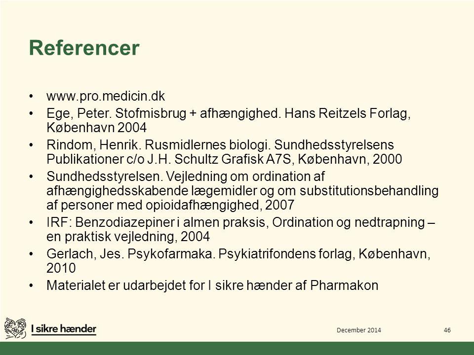 Referencer www.pro.medicin.dk